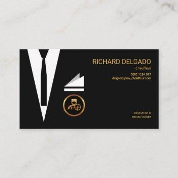 excellent stylish suit modern chic chauffeur business card