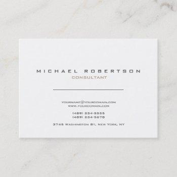 exclusive modern white clean business card