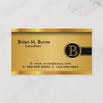 executive black gold |  diy monogram business card