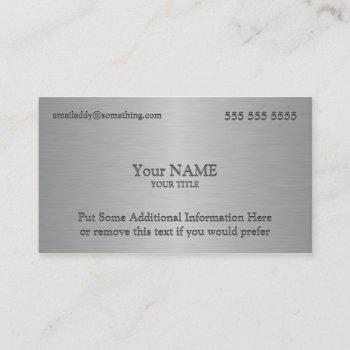 executive metallic texture print business card
