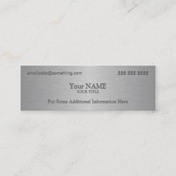 executive metallic texture print mini business card