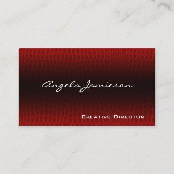 exotic leather modern professional business cards