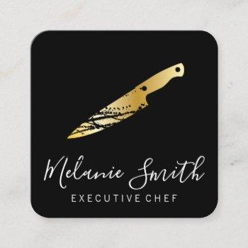 expressive gold knife (executive) square business card