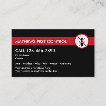 exterminating pest control business card