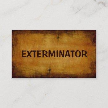 exterminator antique business card