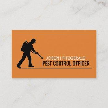 exterminator, pest control business card