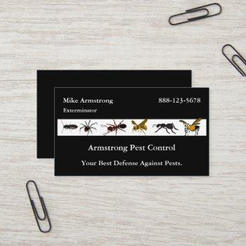exterminator pest control insects bugs business card