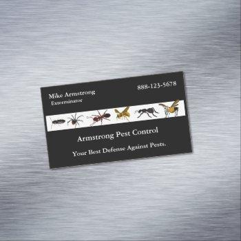 exterminator pest control insects bugs business card magnet