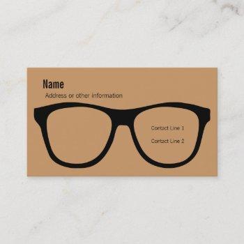 eyeglasses business card
