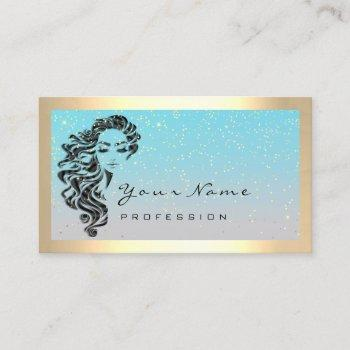eyelash extension makeup artist hair confett frame business card