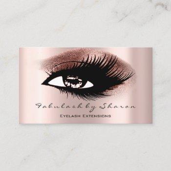 eyelashes professional makeup artist rose gold business card