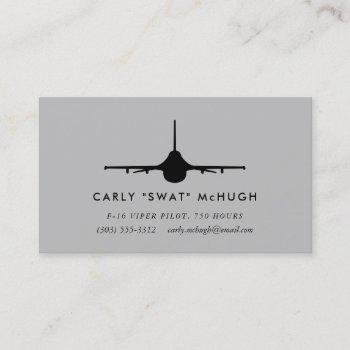 f-16 viper pilot business card