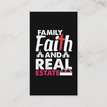 family faith real estate investor property realtor business card