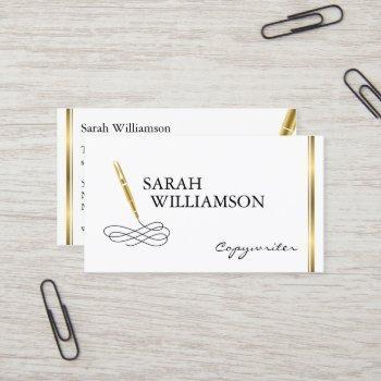 fancy copywriter business card