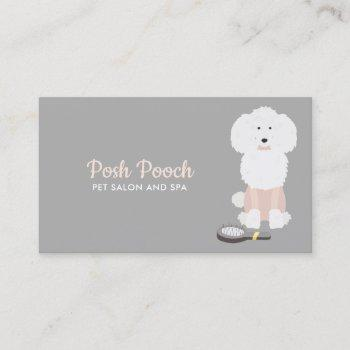 fancy dog grooming business card