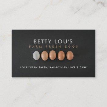 farm fresh eggs business cards