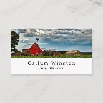 farm landscape, farmer & butcher business card
