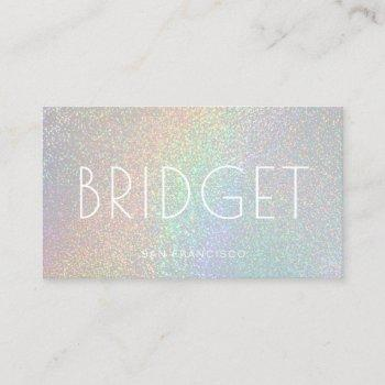 faux glitter effect business card