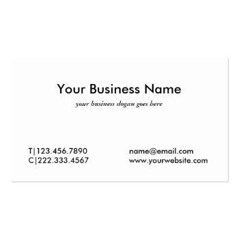 Small Faux Gold Lady Justice Professional Attorney Business Card Back View