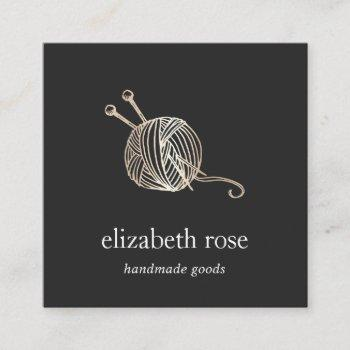 faux gold yarn | knitting crochet handmade crafts square business card