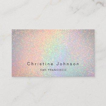 faux simulated glitter business card