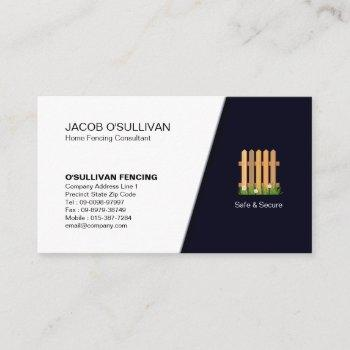 fence fencing handyman security business card