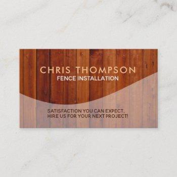 fence installations business cards