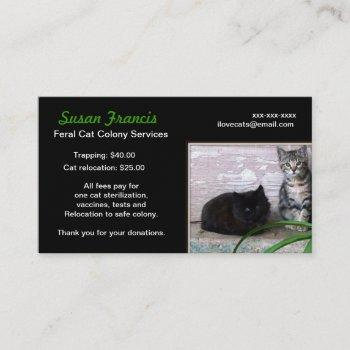 feral cat cause business card