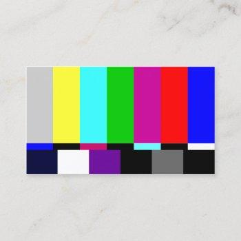 film editor plain tv screen tv spectrum business card