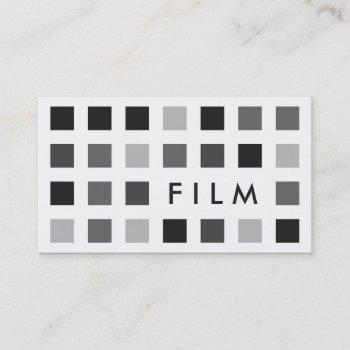 film (mod squares) business card