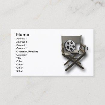 film movie director chare business card