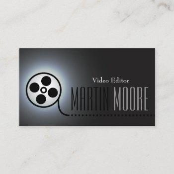 film movie tape video services business card