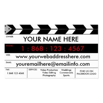 Small Film Production Film Slate Business Card Front View