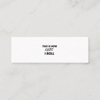 film roll mini business card