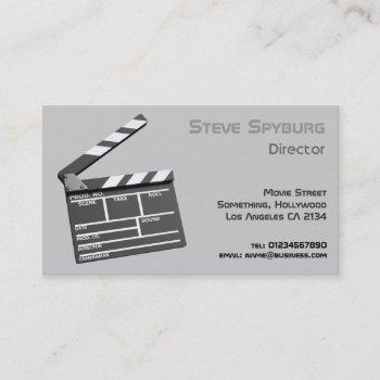 film studio 3d clapperboard business card
