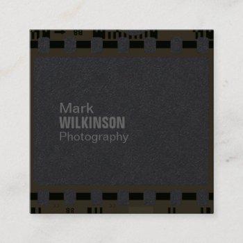 film tape negative frame square business card