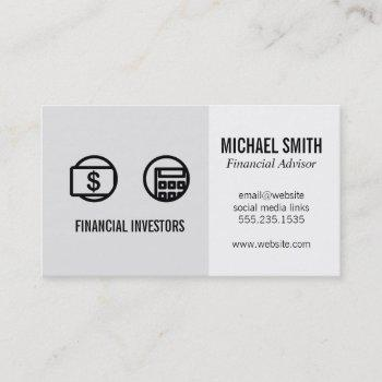 financial advisor | investments | business card