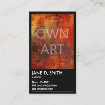 fine art curator business card
