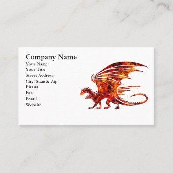 fire dragon business card