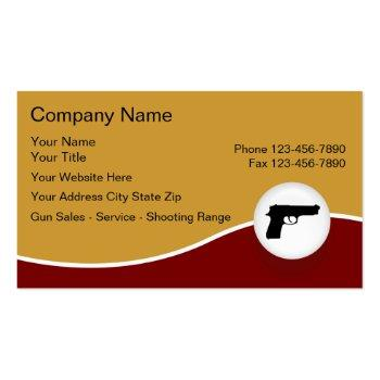 Small Firearms Business Cards Front View