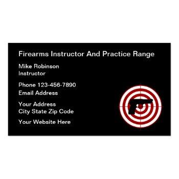 Small Firearms Instructor And Self Defense Business Card Front View