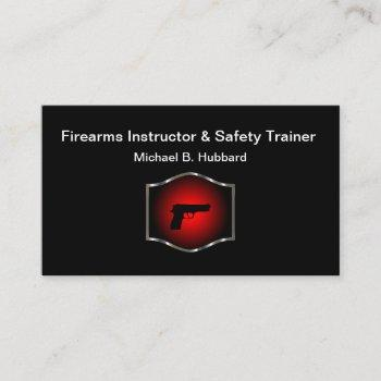 firearms instructor & safety training business card