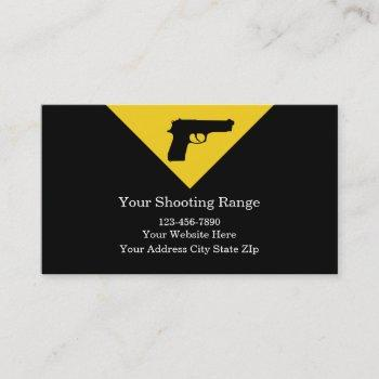 firearms range business cards