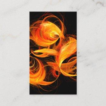 fireball abstract art business card