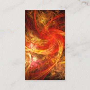 firestorm nova abstract art business card