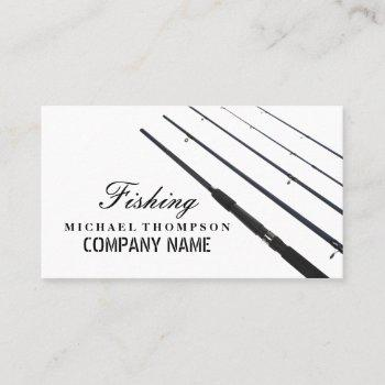 fishing rods, fisherman, fisher business card