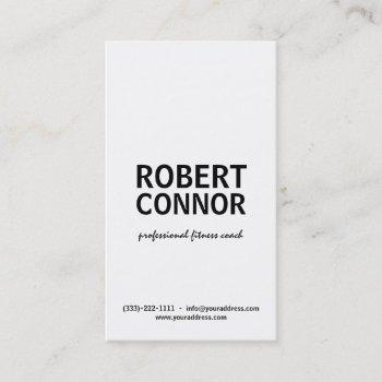 fitness coach text design business card