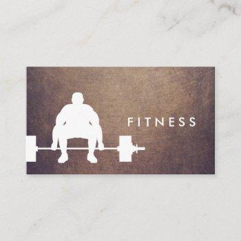 fitness personal trainer bodybuilder grunge business card