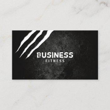 fitness trainer cool claws scratches gym dark business card
