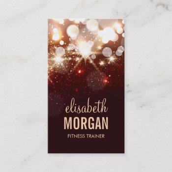 fitness trainer - modern glitter sparkle business card